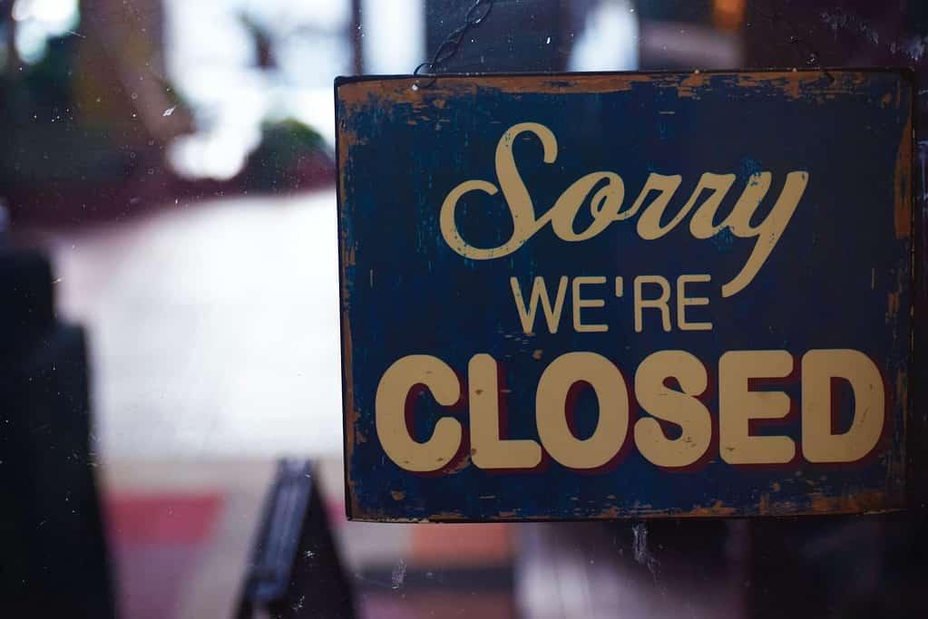Small Business Closed Sign Coronavirus